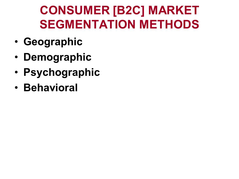 market segmentation important in b2b and b2c This is commonly referred to as business to consumer or b2c marketingbut what of businesses b2b - business to business marketing the importance of.
